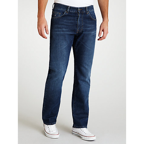 Buy Gant Long Island Straight Leg Jeans, Indigo Rinse Online at johnlewis.com