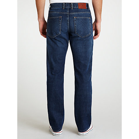 Buy Gant Long Island Straight Jeans, Indigo Rinse Online at johnlewis.com