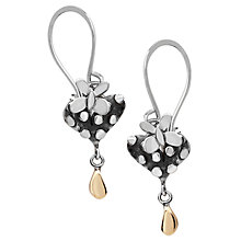 Buy Linda Macdonald Silver Dotty Heart Butterfly Drop Earrings Online at johnlewis.com