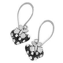 Buy Linda Macdonald Silver Dotty Heart Butterfly Earrings Online at johnlewis.com