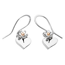Buy Linda Macdonald Silver Heart Gold Bead Drop Earrings Online at johnlewis.com