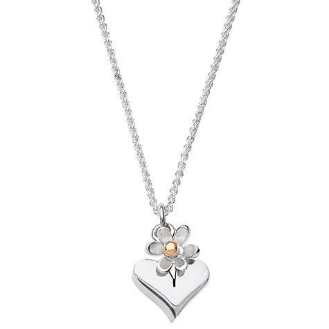 Buy Linda Macdonald Silver Flower Gold Bead Pendant Necklace Online at johnlewis.com