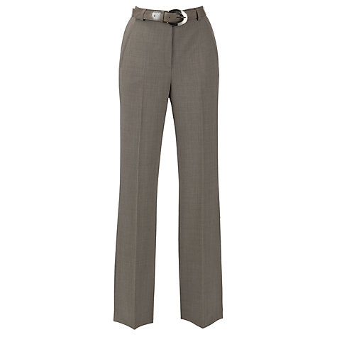 Buy Gardeur City Straight Leg High Rise Trousers, Taupe Online at johnlewis.com