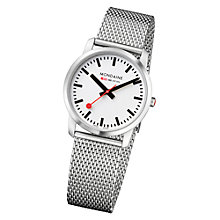 Buy Mondaine A672.30351.16SBM Unisex Simply Elegant Silver Bracelet Watch, Silver Online at johnlewis.com
