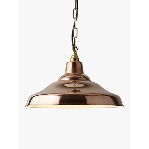 Buy davey lighting factory ceiling light copper john lewis for Kitchen lighting ideas john lewis