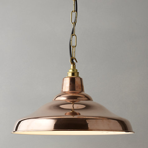 Buy Davey Factory Ceiling Light, Copper Online at johnlewis.com