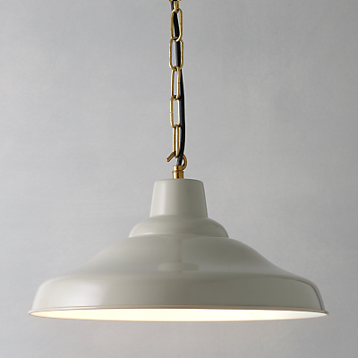 Davey Lighting Factory Ceiling Light, Putty