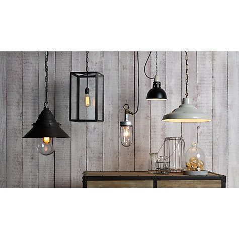 Buy Davey Factory Ceiling Light, Putty Online at johnlewis.com