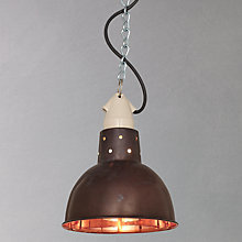 Buy Davey Lighting Spun Reflector, Copper Online at johnlewis.com