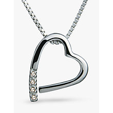 Buy Hot Diamonds Open Heart Memories Pendant Necklace Online at johnlewis.com