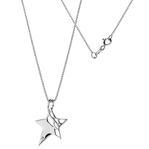 Buy Hot Diamonds Arabesque Eclipse Star Pendant Online at johnlewis.com