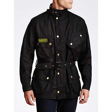 Buy Barbour International Wax Jacket, Black Online at johnlewis.com