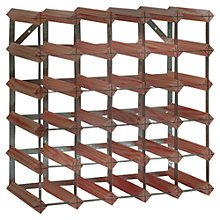 Buy RTA Winestak 30 Bottle Wine Rack, Dark Wood and Steel Online at johnlewis.com