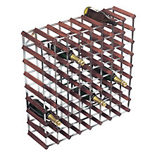 Buy RTA Winestak 72 Bottle Wine Rack, Dark Wood and Steel Online at johnlewis.com