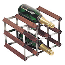 Buy RTA Winestak 9 Bottle Wine Rack, Dark Wood and Steel Online at johnlewis.com