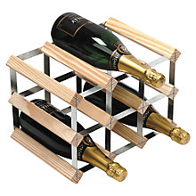 Buy RTA Winestak 9 Bottle Wine Rack, Pine Wood and Steel Online at johnlewis.com