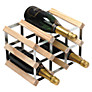 RTA Winestak 9 Bottle Wine Rack, Pine Wood and Steel