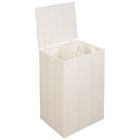 Buy White Rope Double Laundry Basket Online at johnlewis.com