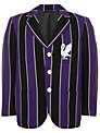 The Perse Prep School Unisex Blazer, Black/Purple