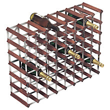 Buy RTA Winestak 56 Bottle Wine Rack, Dark Wood and Steel Online at johnlewis.com