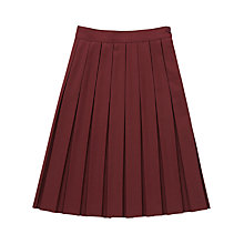 Buy Girls' School Box Pleat Skirt, Maroon Online at johnlewis.com