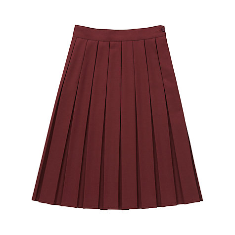 buy school box pleat skirt maroon lewis