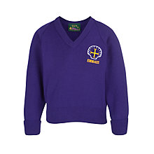 Buy Emmaus C of E and Catholic Primary School Boys' Pullover, Purple Online at johnlewis.com