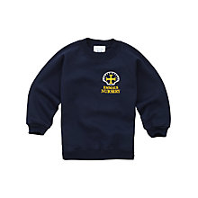 Buy Emmaus C of E and Catholic Primary School Unisex Nursery Sweatshirt, Navy Online at johnlewis.com