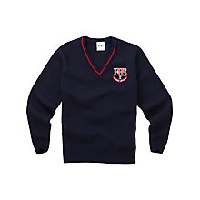 Buy Fazakerley High School Boys' Pullover, Navy Online at johnlewis.com
