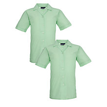 Buy St Julie's Catholic High School Girls' Year 9 Blouse, Pack of 2, Green Online at johnlewis.com