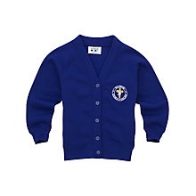 Buy Halewood Church of England School Girls' Cardigan, Royal Blue Online at johnlewis.com
