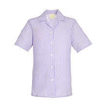 Buy King's College School Years 6 Girls' Summer Blouse, Purple/White Online at johnlewis.com