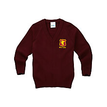 Buy Rice Lane Junior School Boys' Pullover, Maroon Online at johnlewis.com