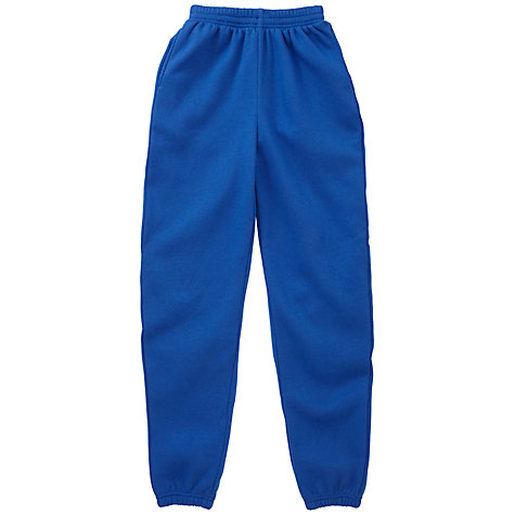 Buy School Unisex Jogging Bottoms, Royal Blue Online at johnlewis.com
