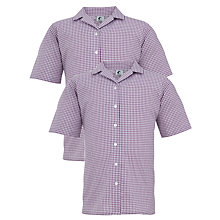 Buy St Hilda's CE High School Girls' Blouse, Pack of 2, Lilac Online at johnlewis.com