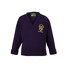 Buy St John Fisher Catholic Primary School Boys' Pullover, Purple Online at johnlewis.com