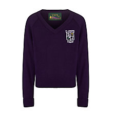 Buy St Joseph The Worker Catholic Primary School Boys' Pullover, Purple Online at johnlewis.com