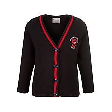 Buy St Thomas C of E Primary School Girls' Cardigan, Navy/Red Online at johnlewis.com