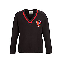 Buy St Thomas C of E Primary School Unisex Pullover, Navy/Red Online at johnlewis.com