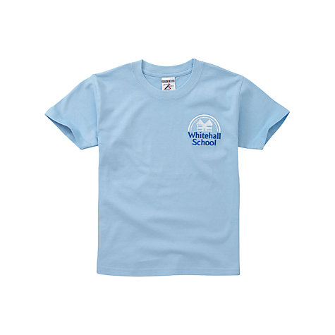 Buy Whitehall School Unisex T-Shirt, Sky Blue Online at johnlewis.com