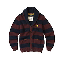 Buy Canterbury Kiernan Shawl Stripe Cardigan, Henna/Dark Navy Online at johnlewis.com