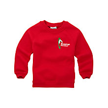 Buy Snowdrops Pre-School (Nursery to Ashdell) Unisex Sweatshirt, Red Online at johnlewis.com