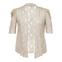 Buy Chesca Lace Foil Print Pintuck Shrug, Barley Online at johnlewis.com
