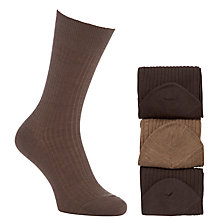 Buy John Lewis Wool and Nylon Socks, Pack of 3 Online at johnlewis.com