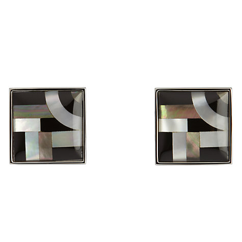 Buy Simon Carter Bauhaus Onyx and Mother of Pearl Cufflinks Online at johnlewis.com