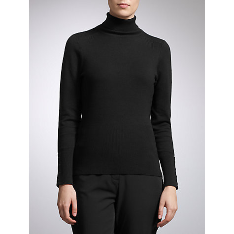 Buy John Lewis Roll Neck Jumper, Black Online at johnlewis.com