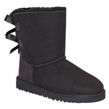 Buy UGG Children's Bailey Bow Boots, Black Online at johnlewis.com