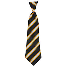 Buy Childwall C of E Primary School Unisex Elasticated Tie, Black/Gold Online at johnlewis.com