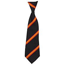 Buy St John's College Unisex Elasticated Tie, Black/Red Online at johnlewis.com
