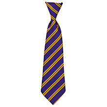 Buy St Joseph The Worker Catholic Primary School Unisex Elasticated Tie, Purple/Gold Online at johnlewis.com